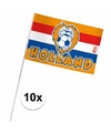 Holland fan zwaaivlaggetjes 10 x